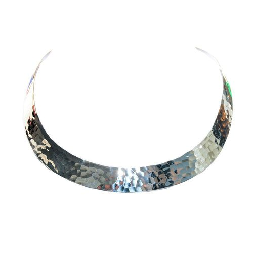 925 sterling silver choker hammered