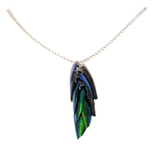 925 sterling silver necklace pendant 12 Wings 45 cm
