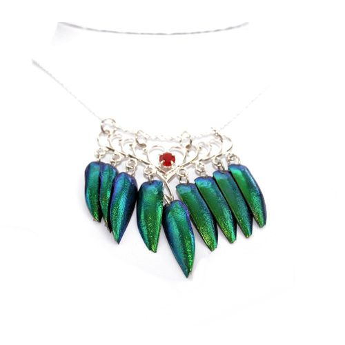 925 sterling silver necklace 9 Wings with stone 45 cm
