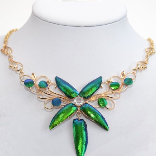 "Gold-collier 18k plated ""Flower"" ca. 42-47 cm"